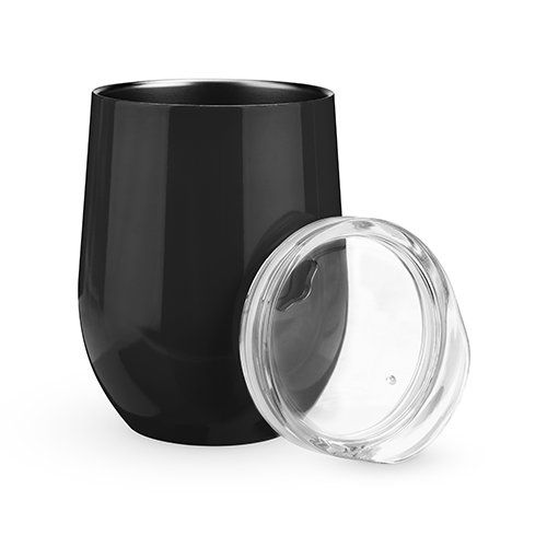 Sip & Go Stemless Wine Tumbler in Black